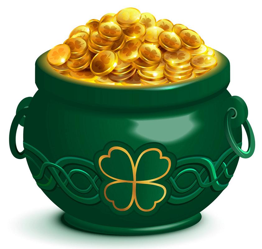 Green Pot of Gold clipart 2