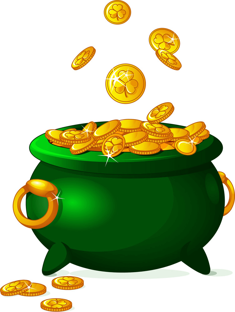 Green Pot of Gold clipart