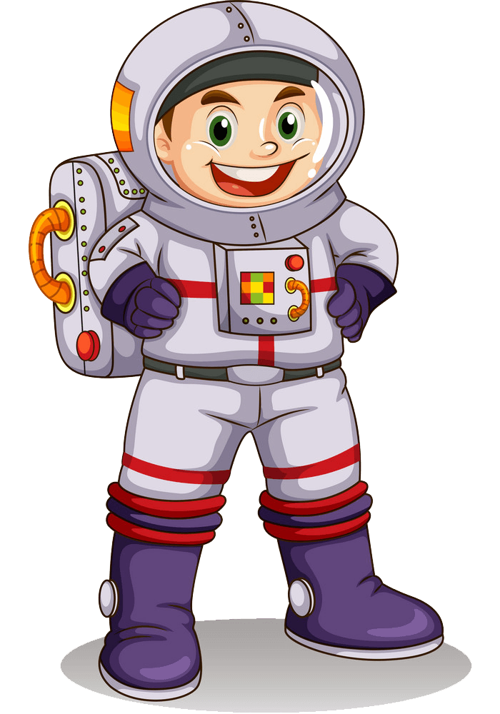 Happy Astronaut clipart transparent