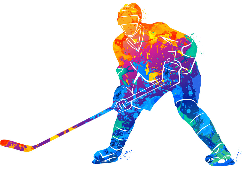 Hockey Player clipart free