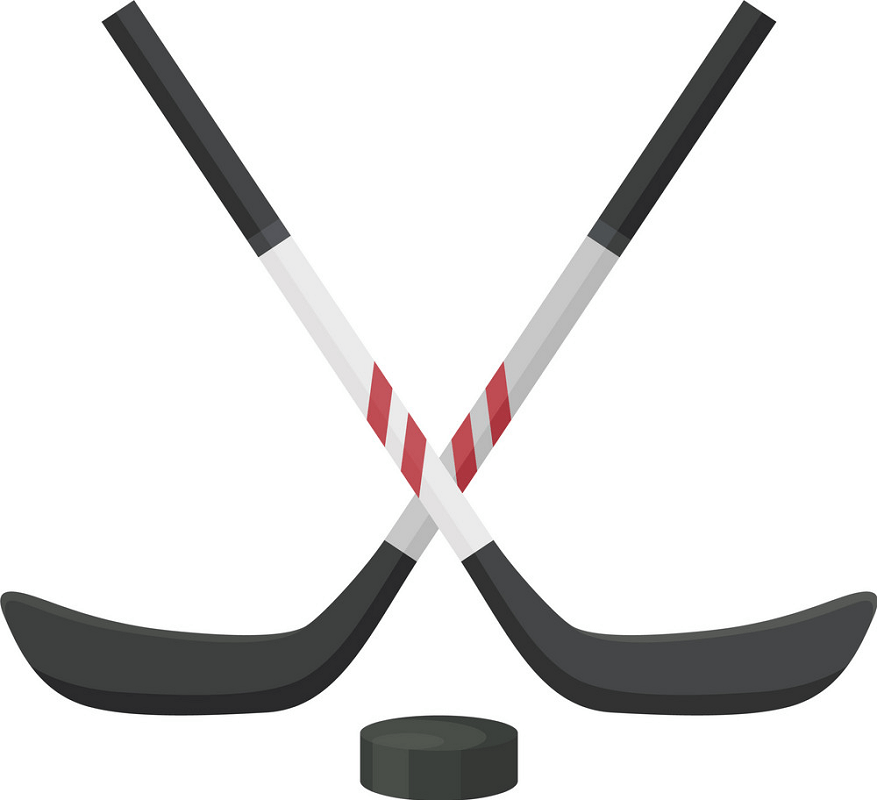 Hockey Stick and Washer clipart