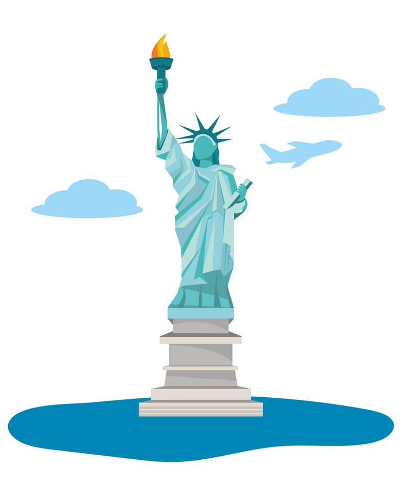 Icon Statue of Liberty clipart
