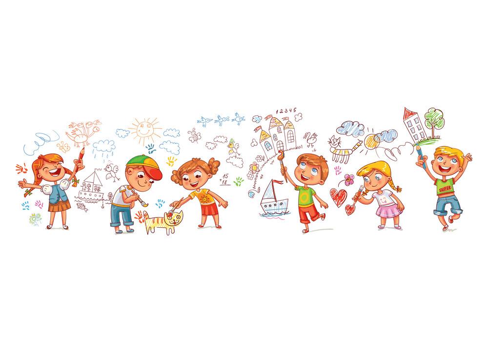 Kindergarten Kids clipart