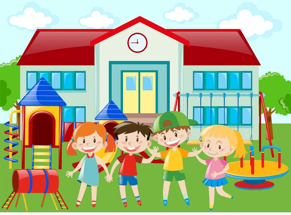 Kindergarten Playground clipart