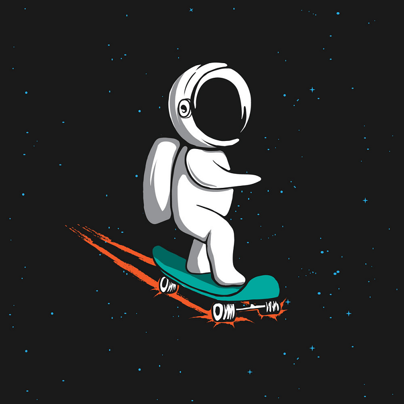 Little Astronaut clipart