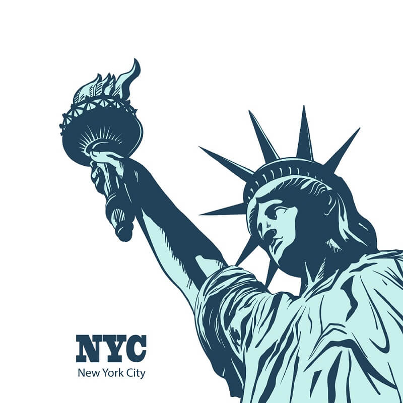 NYC Statue of Liberty clipart