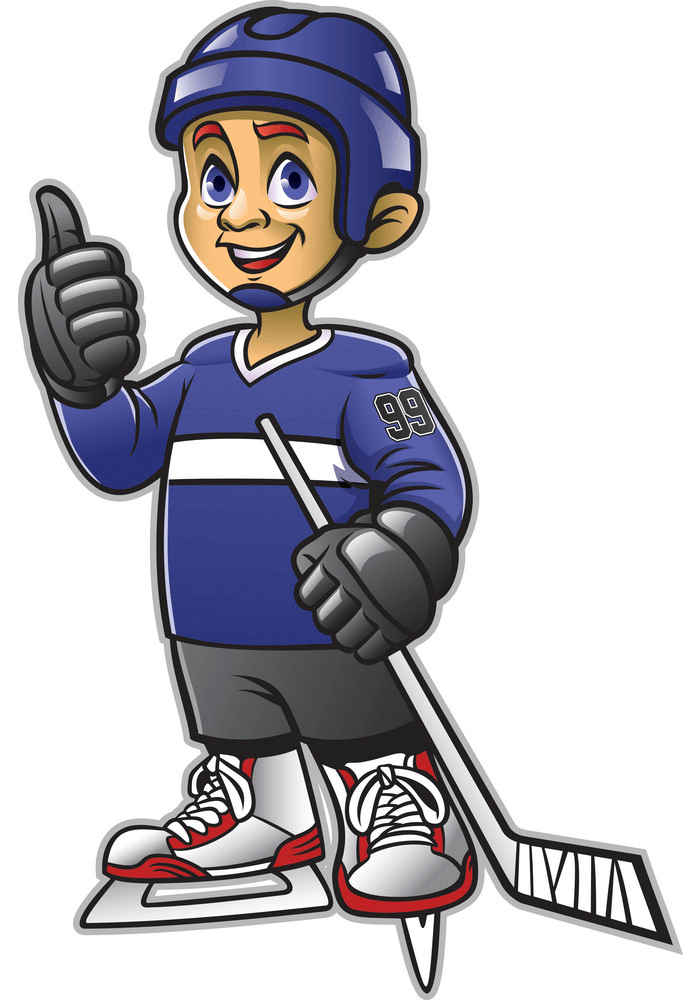 Playing Hockey clipart