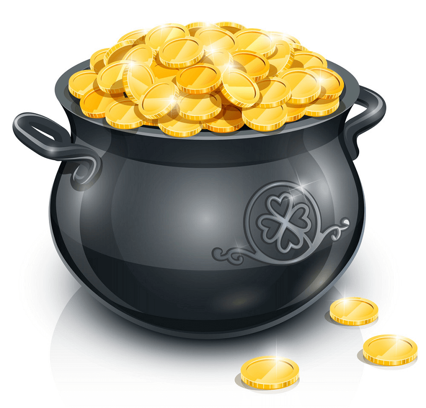 Pot of Gold clipart 1