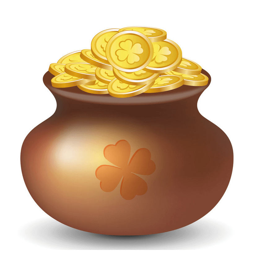Pot of Gold clipart 2