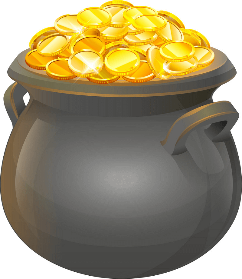 Pot of Gold clipart 3