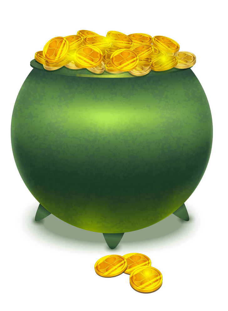 Pot of Gold clipart 4