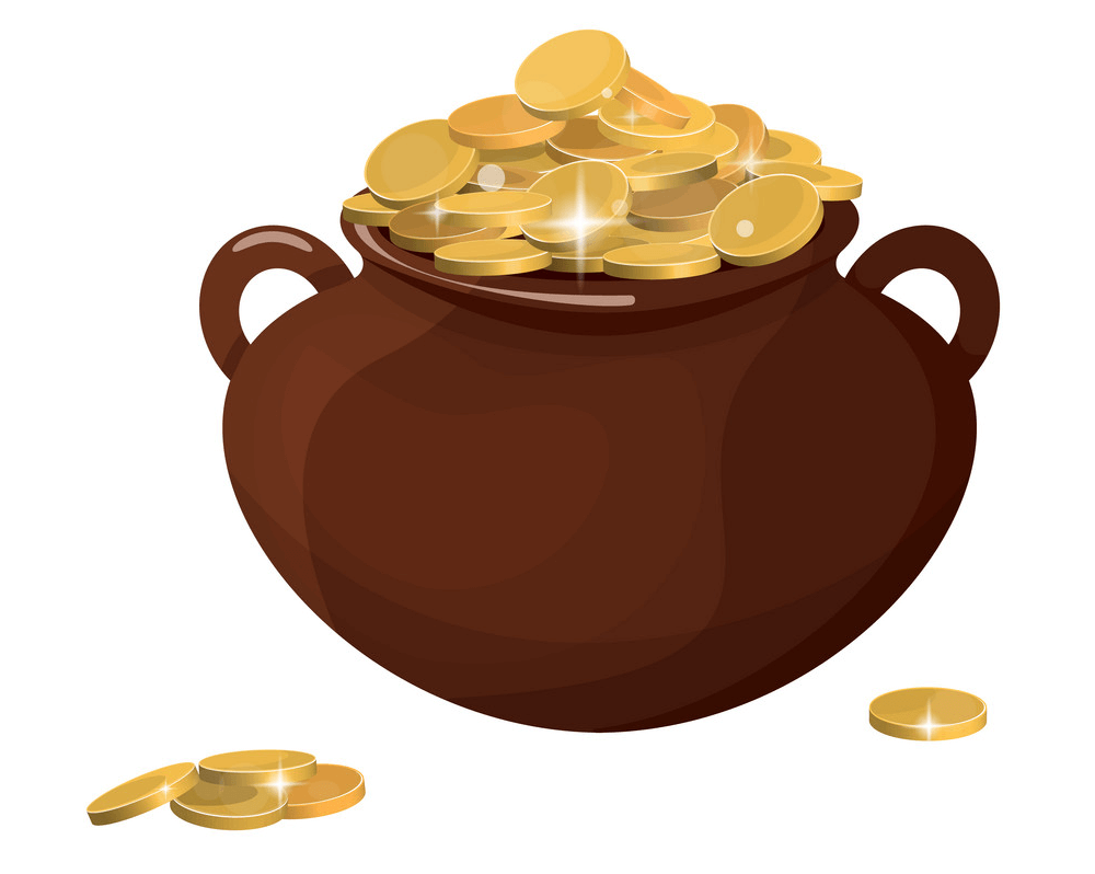 Pot of Gold clipart 5