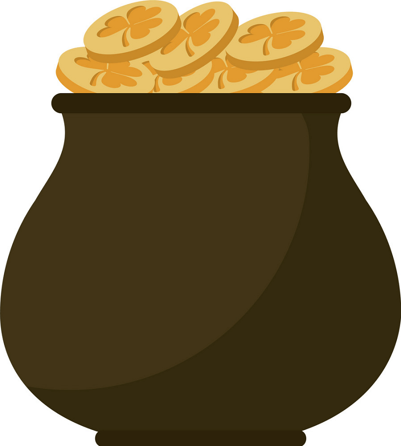 Pot of Gold clipart picture