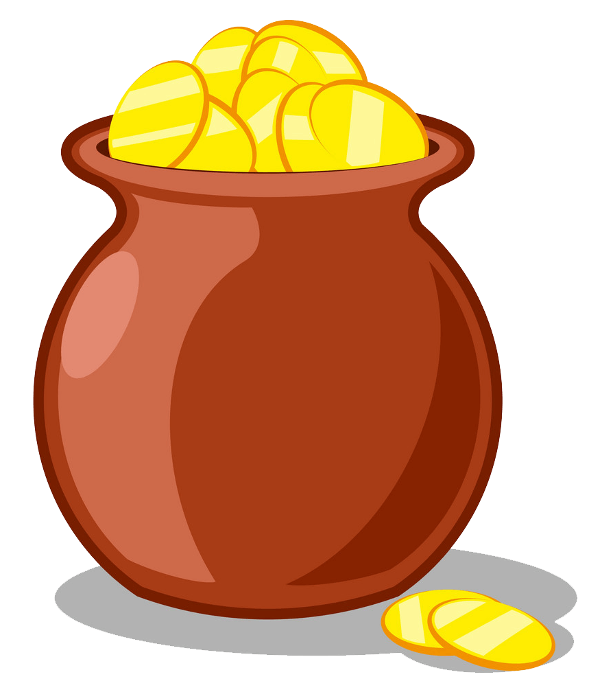 Pot of Gold clipart transparent 1