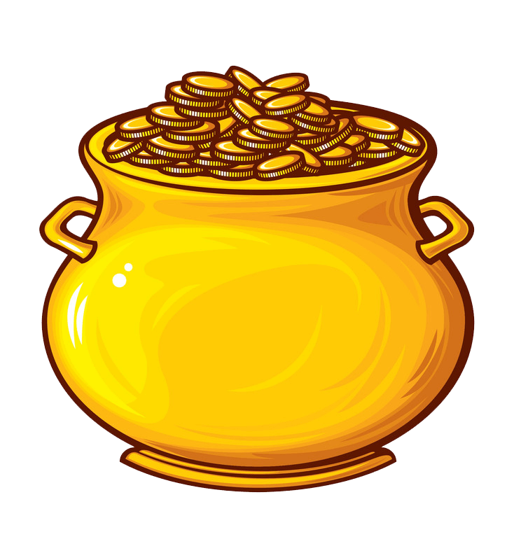 Pot of Gold clipart transparent 2