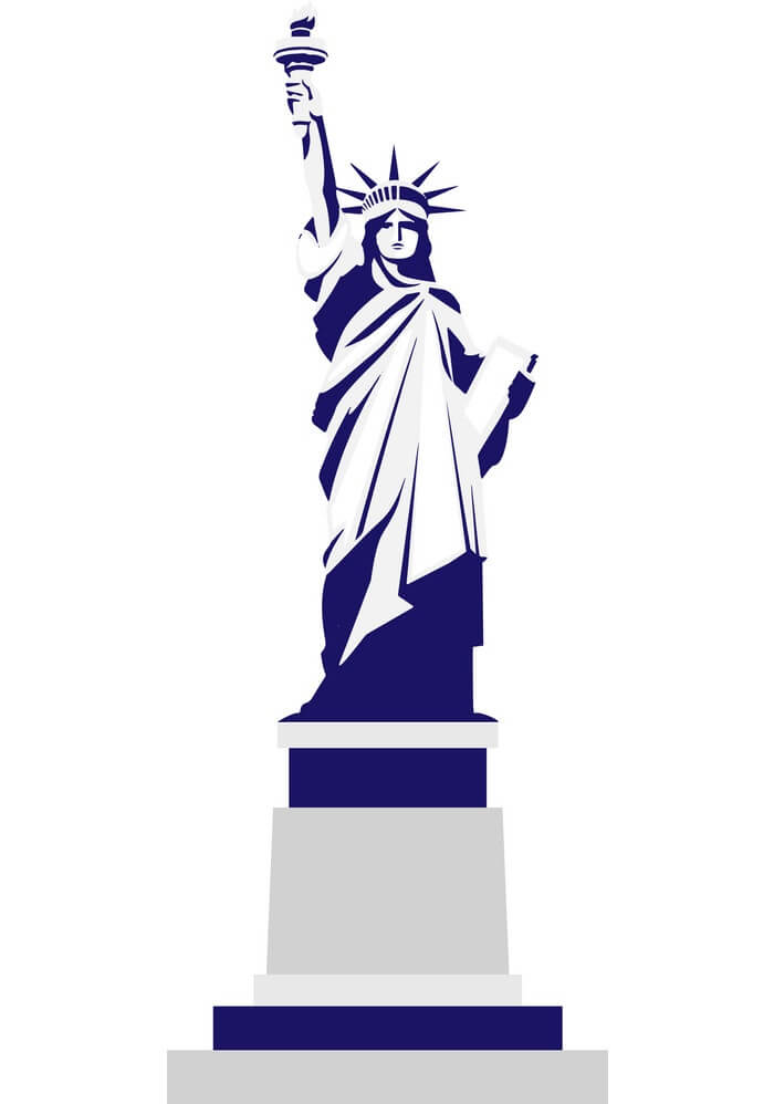 Silhouette Statue of Liberty clipart