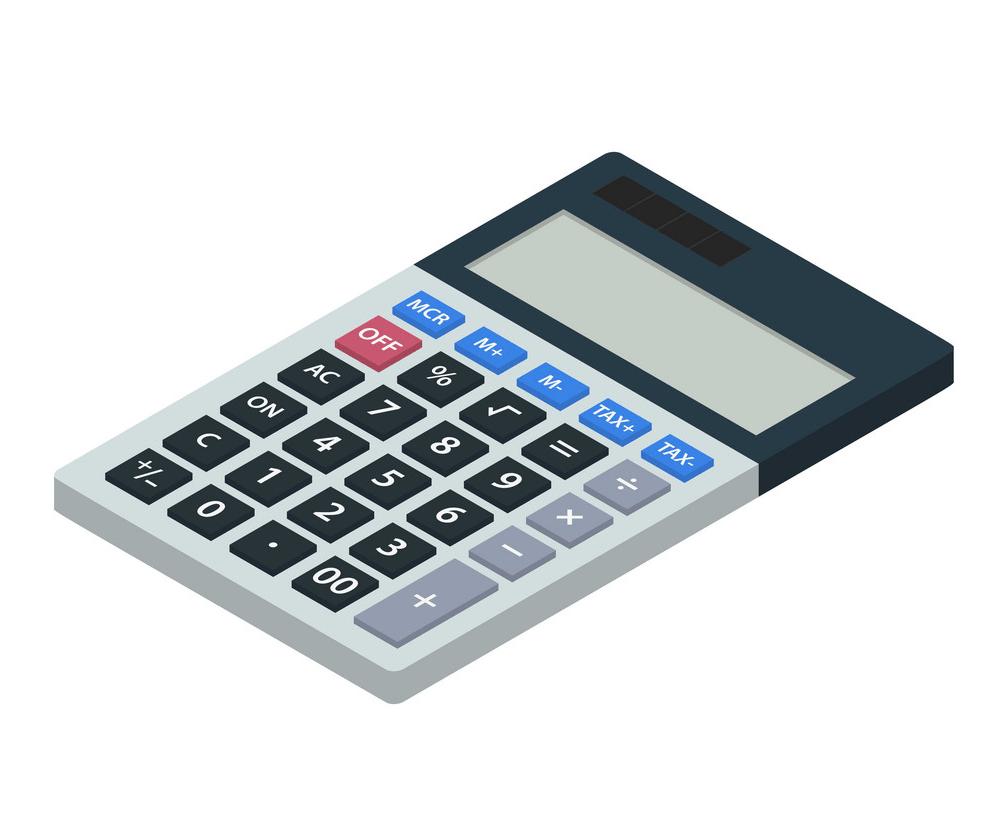 Simple Icon Calculator clipart