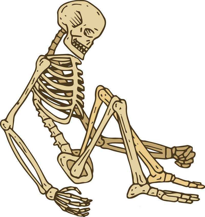 Sitting Skeleton clipart