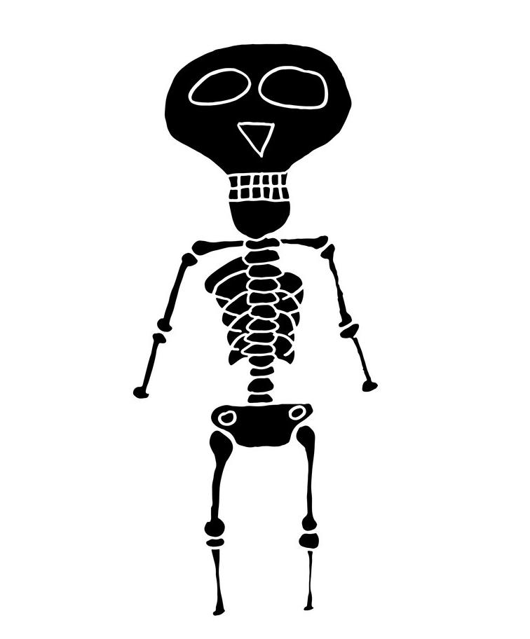 Skeleton clipart 8