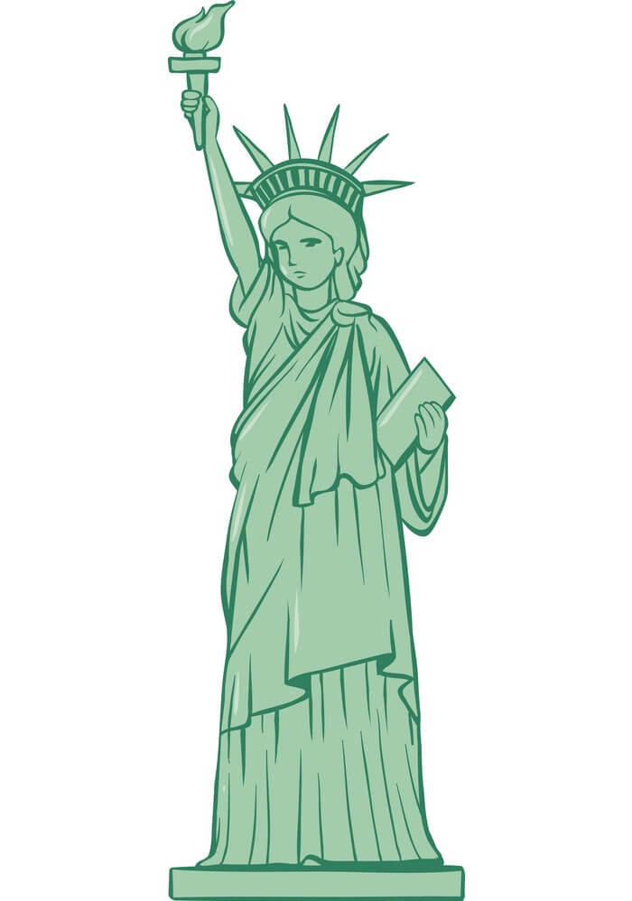 Statue of Liberty clipart free