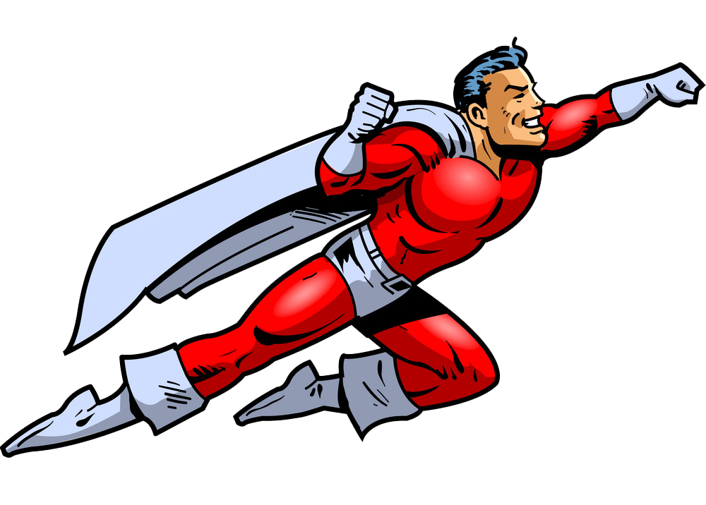 Superhero Flying clipart transparent
