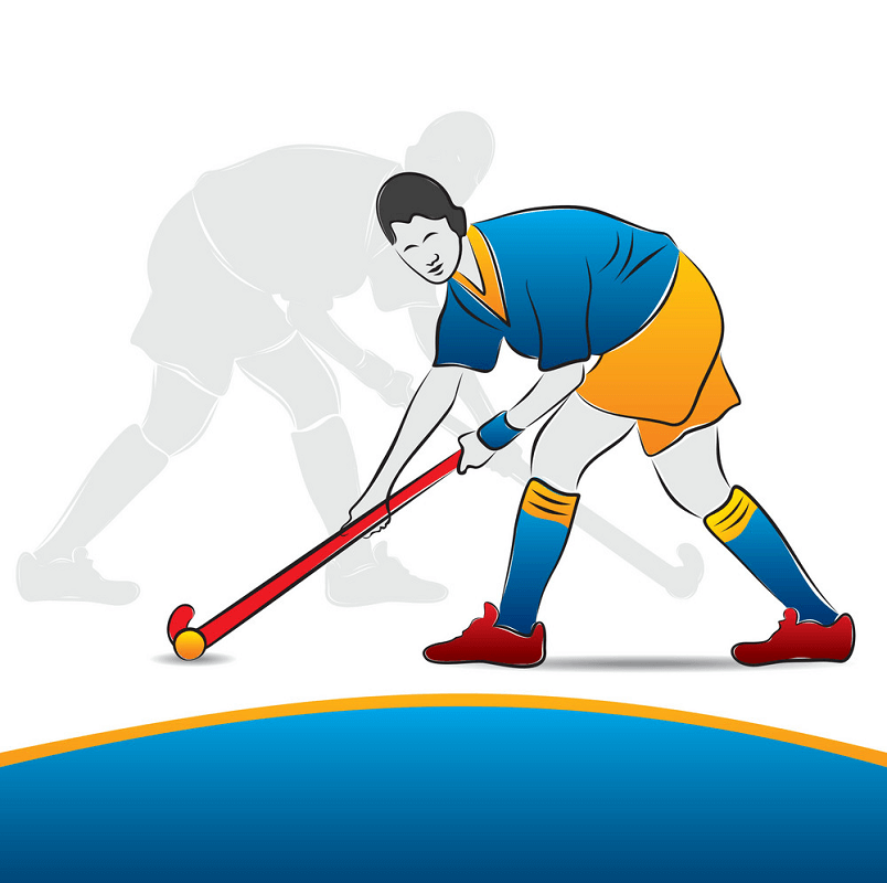 Woman Playing Hockey clipart
