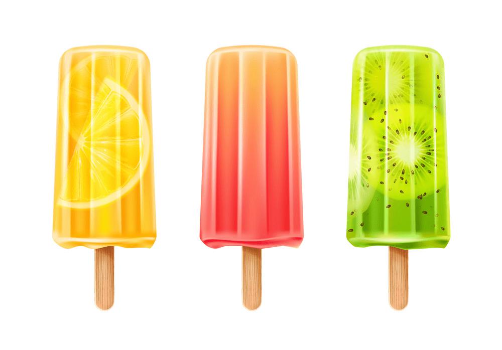 3D Fruit Popsicle clipart