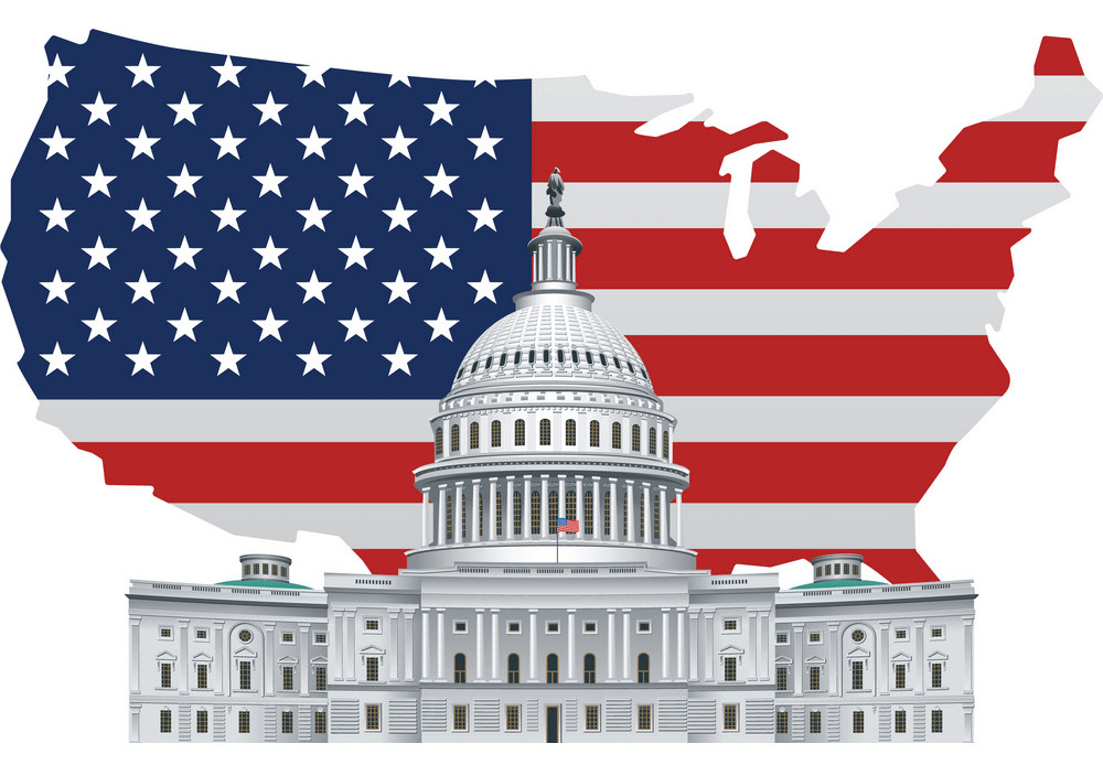 American White House clipart