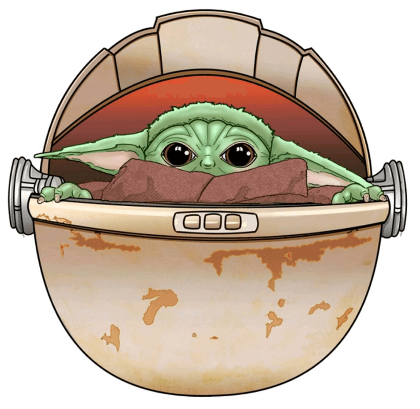 Baby Yoda clipart 1