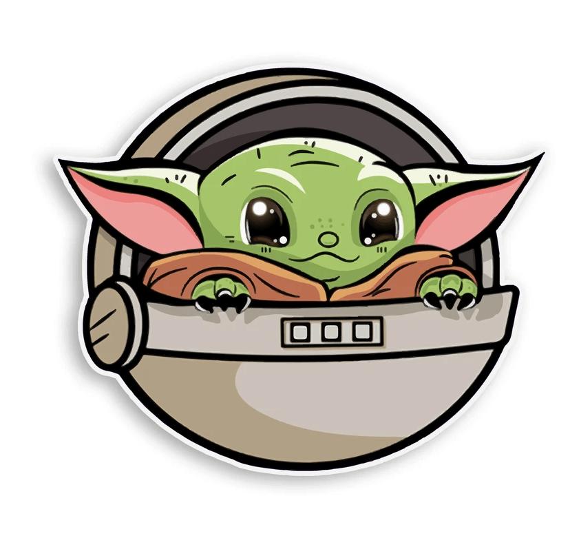 Baby Yoda clipart 2