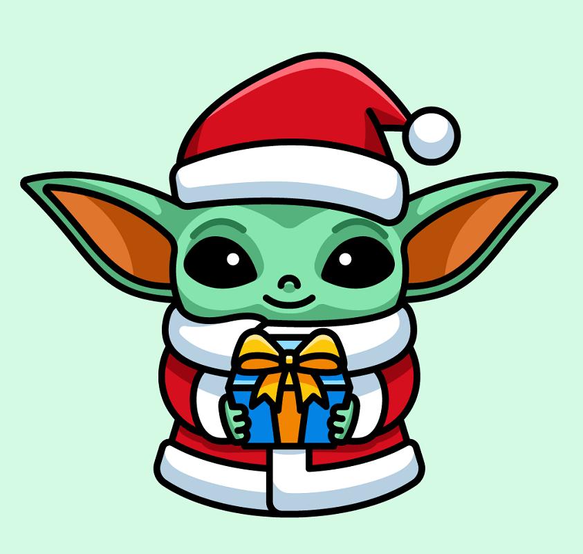 Baby Yoda clipart 4