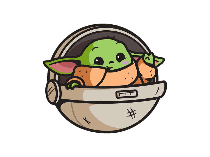 Baby Yoda clipart download