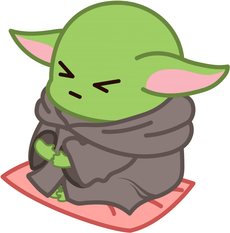 Baby Yoda clipart for kid