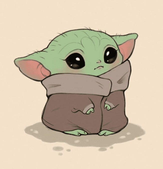 Baby Yoda clipart free 1
