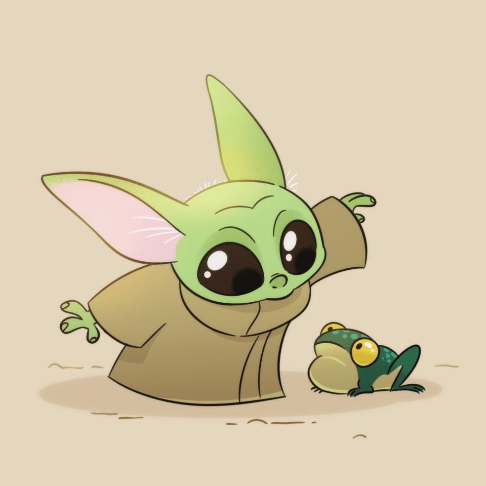 Baby Yoda clipart free 2