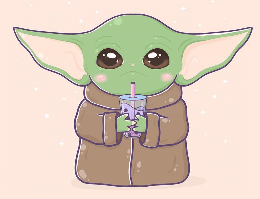 Baby Yoda clipart free for kids