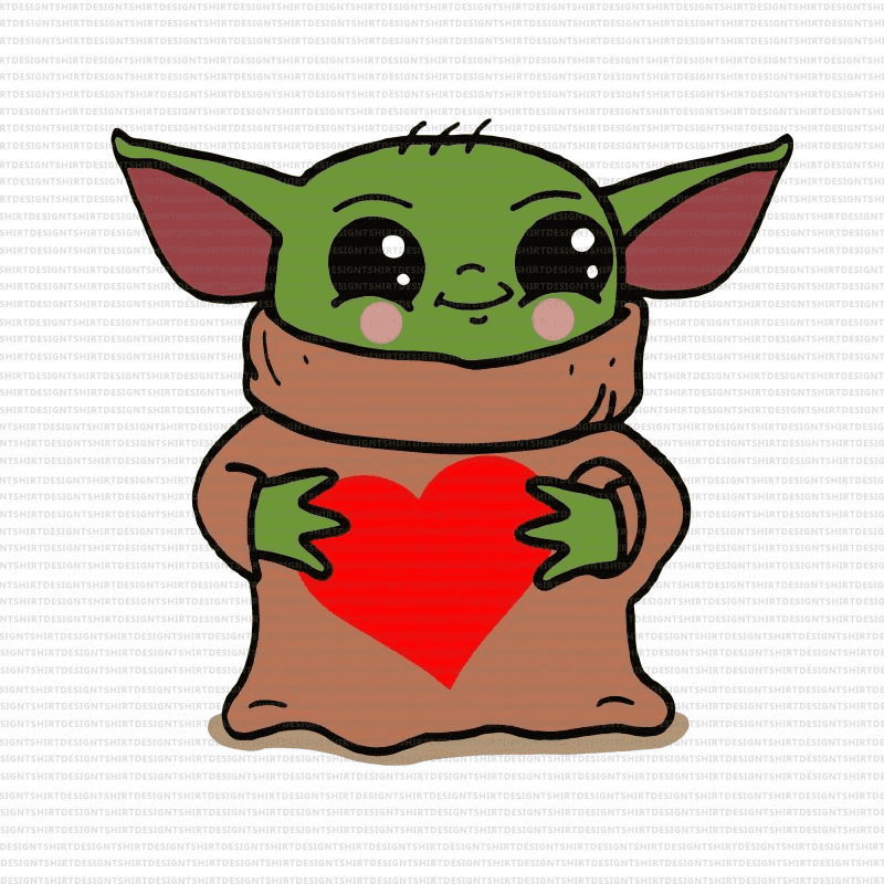 Baby Yoda clipart free images