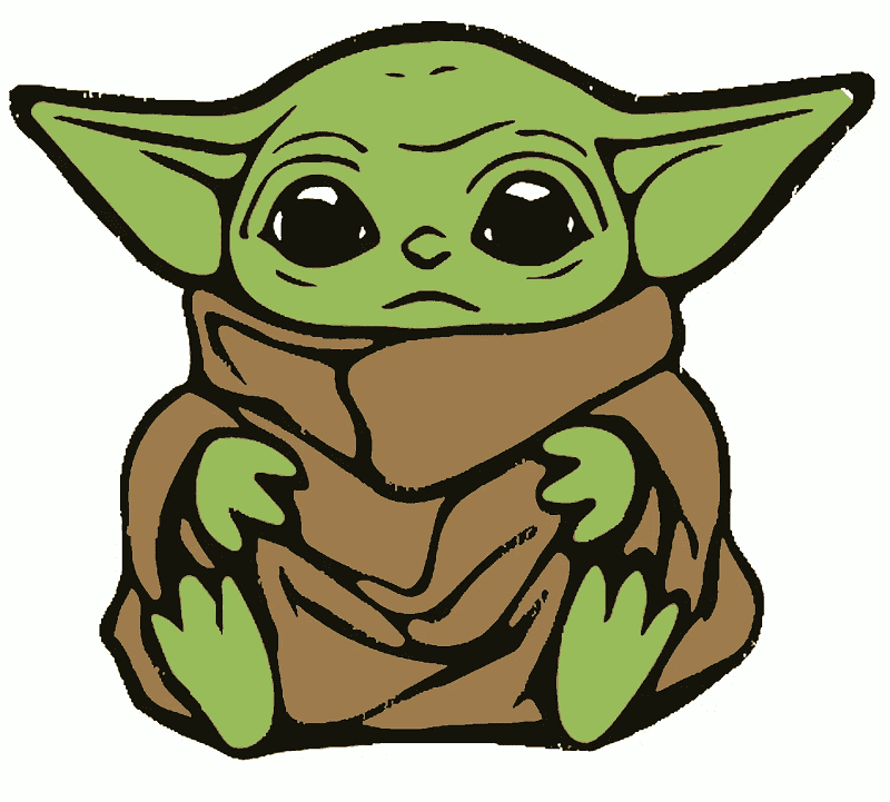 Baby Yoda clipart free picture