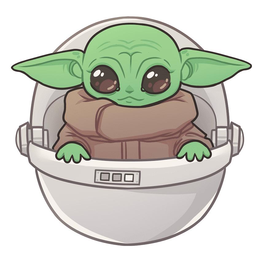 Baby Yoda clipart free