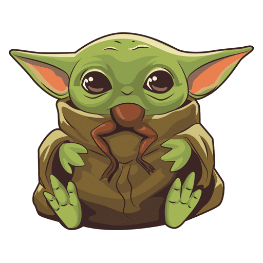 Baby Yoda clipart png images