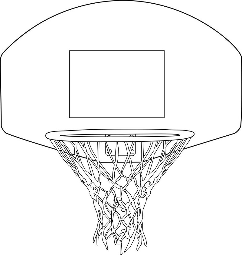 Basketball Hoop Outline clipart