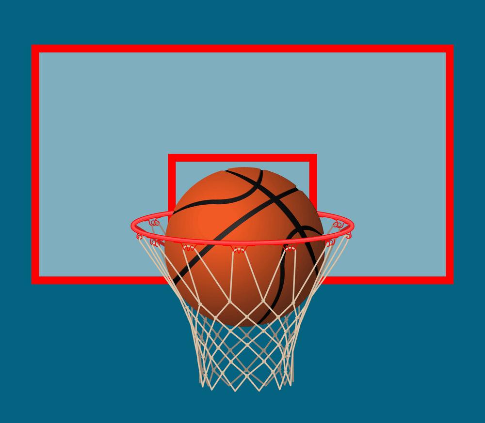 Basketball Hoop and Ball clipart