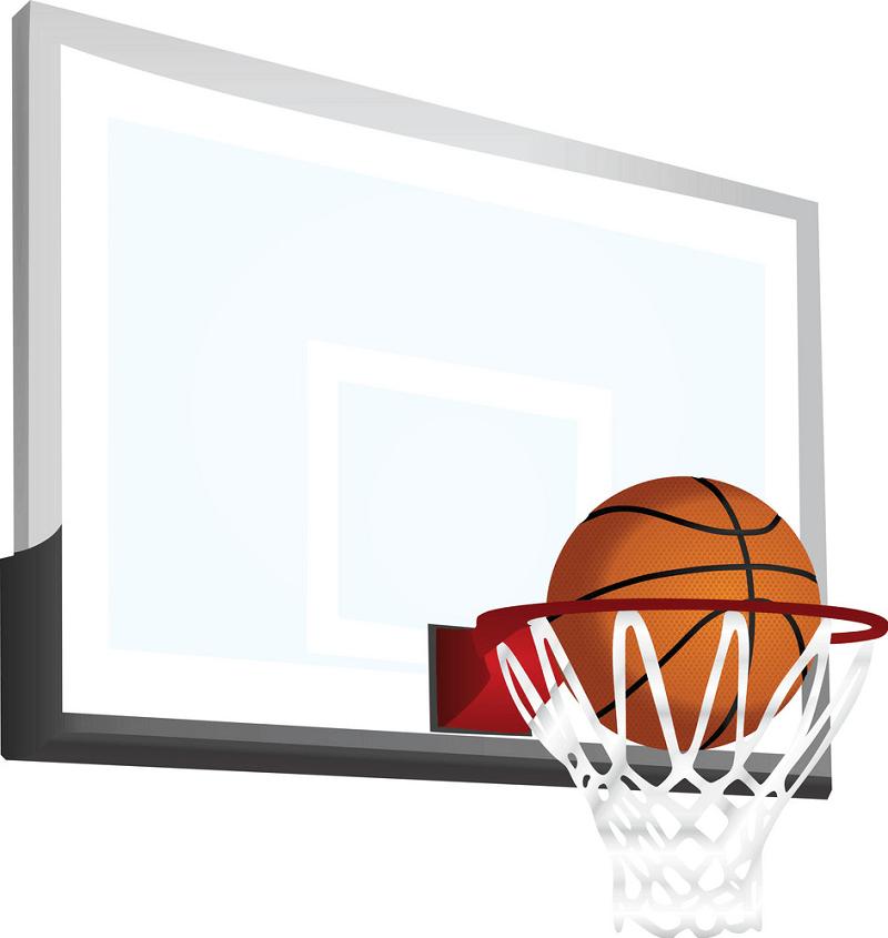 Basketball Hoop and a Ball clipart