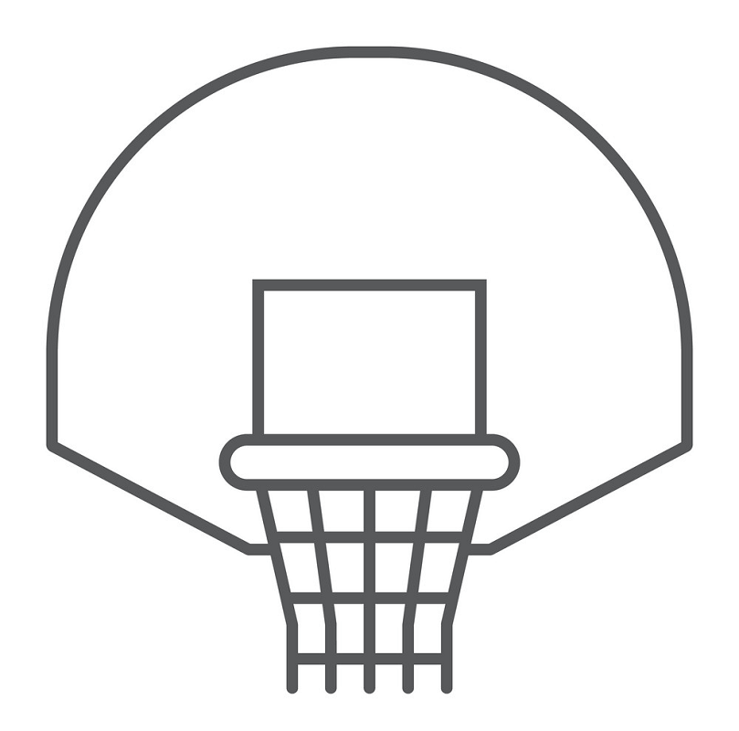 Basketball Hoop simple icon clipart
