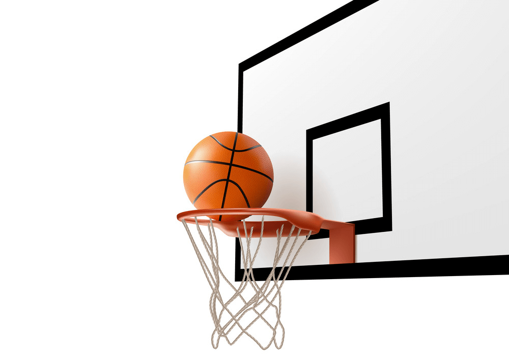 Basketball Hoop with Ball clipart