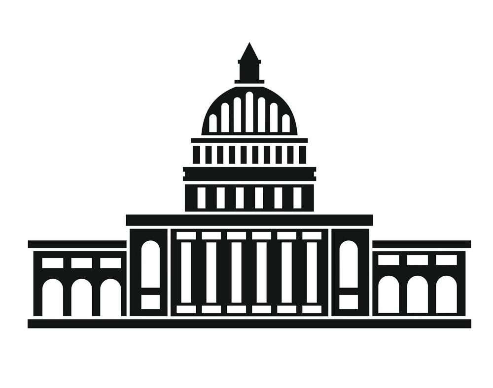 Black Icon White House clipart