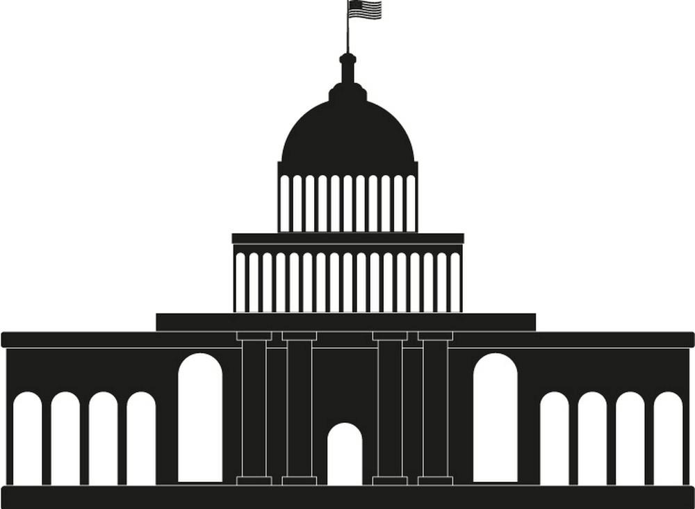Black White House clipart