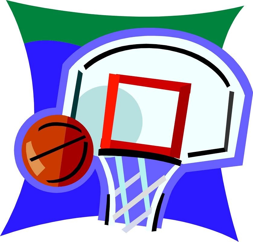 Clipart Basketball Hoop 1