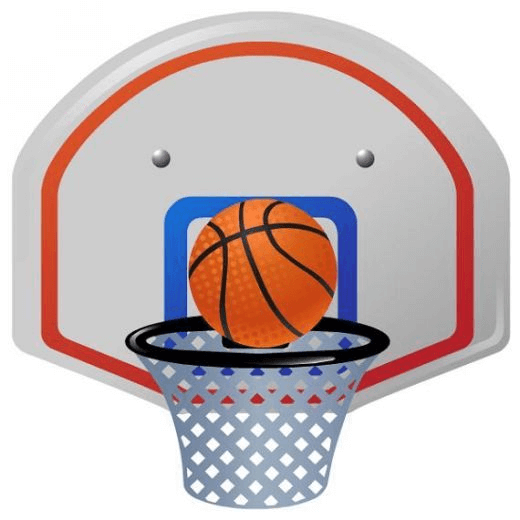 Clipart Basketball Hoop image