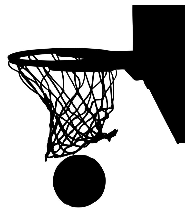 Clipart Black Basketball Hoop